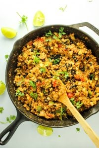 Vegan Cauliflower Rice Skillet