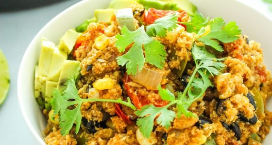 Mexican Cauliflower Rice Skillet