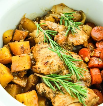 Crockpot Balsamic Chicken and Vegetables