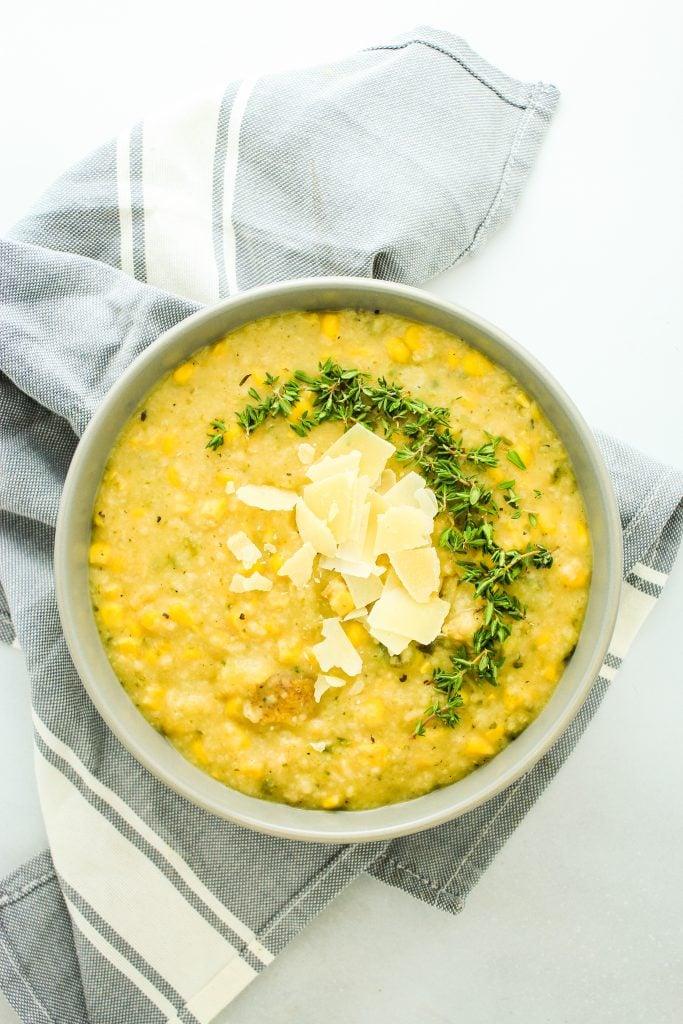 Crockpot Poblano Corn Soup Towel