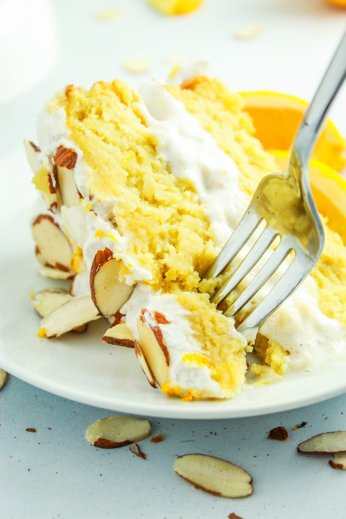 Almond Orange Cake Cream Filling