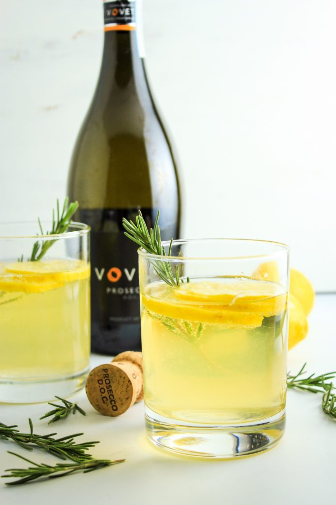 Lemon Ginger Prosecco Cocktails Wine Bottle