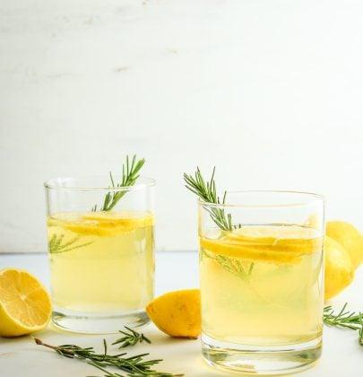 Lemon Ginger Prosecco Cocktails