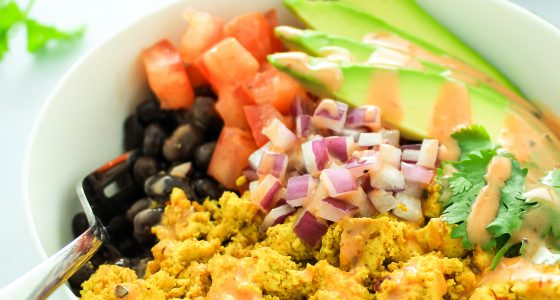 Southwest Tofu Breakfast Bowls