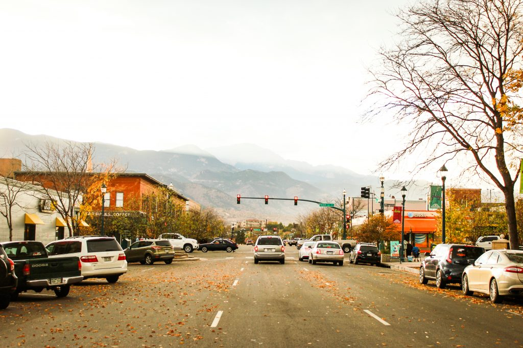Cars Traffic Lights Road Colorado Springs
