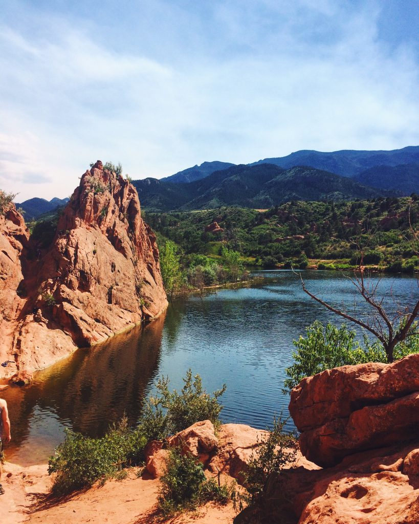 Colorado Springs Lake Mountains