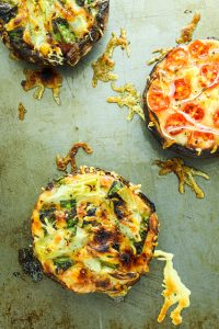 Portobello Mushroom Pizzas – These are my go-to for EASY dinner. They're done in less than 15 minutes and there is NO mess or clean-up!