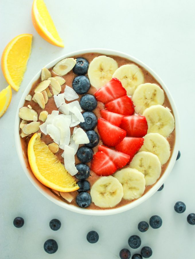 Strawberry Banana Smoothie Bowls
