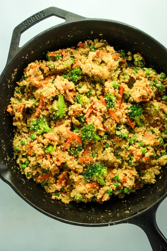 20 Minute Cauliflower Rice Stir Fry – This is one of my go-to dinner recipes! Better than takeout and half the carbs. So much healthy veggie goodness!