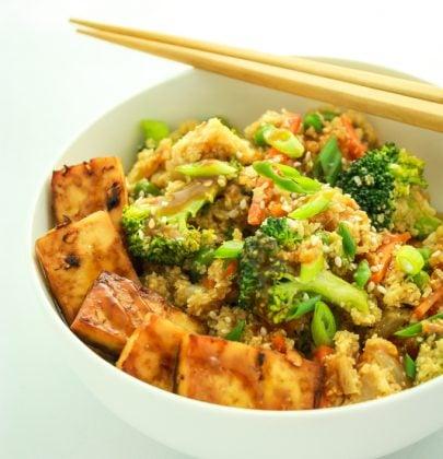 20 Minute Cauliflower Rice Stir Fry