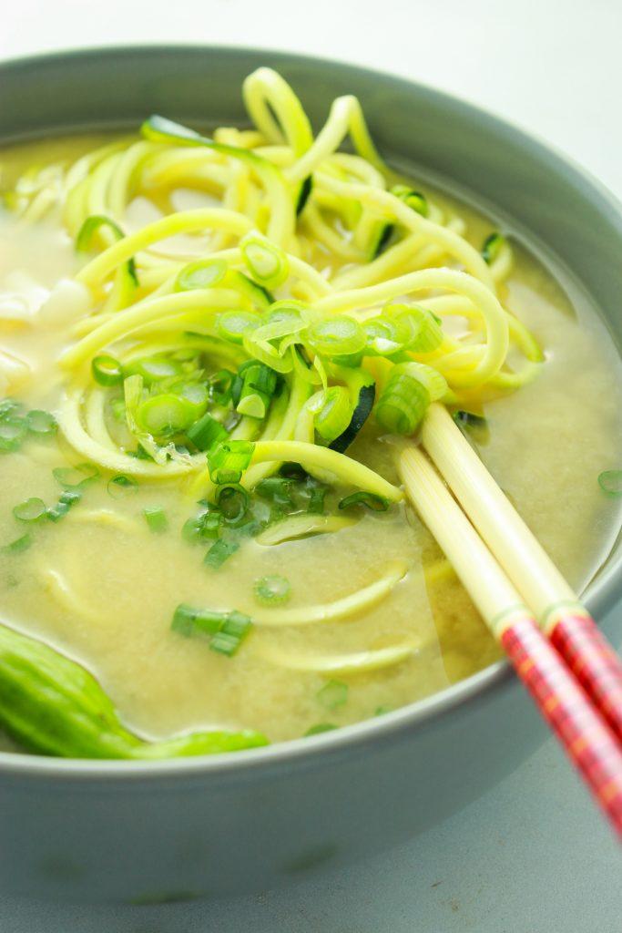 Easy Vegan Miso Soup Chop Sticks Bowl