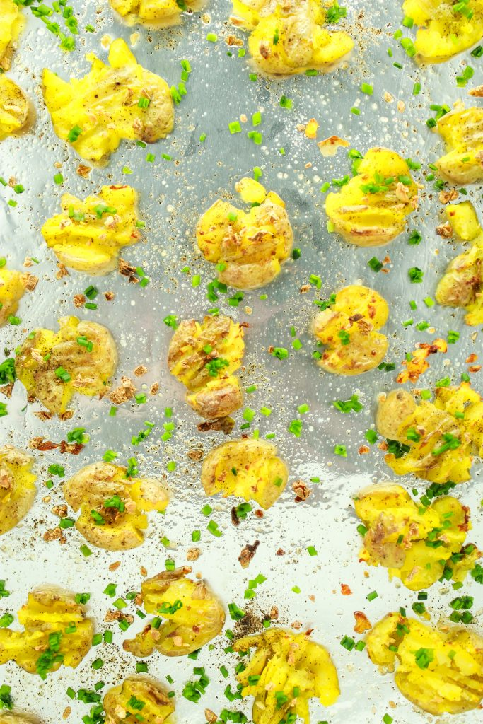 Garlic Smashed Potatoes