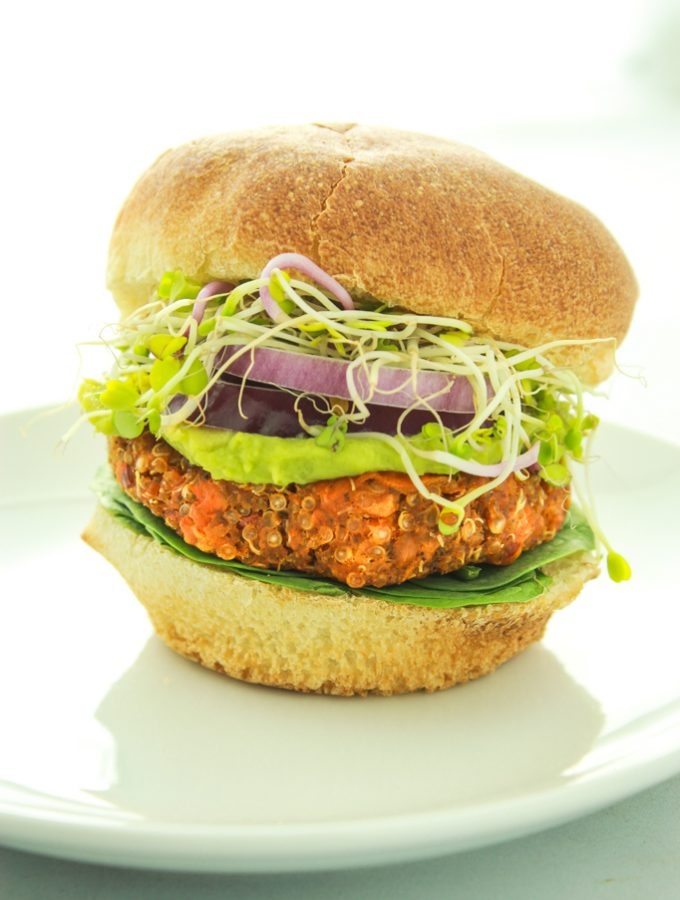 Spicy Sweet Potato Burgers