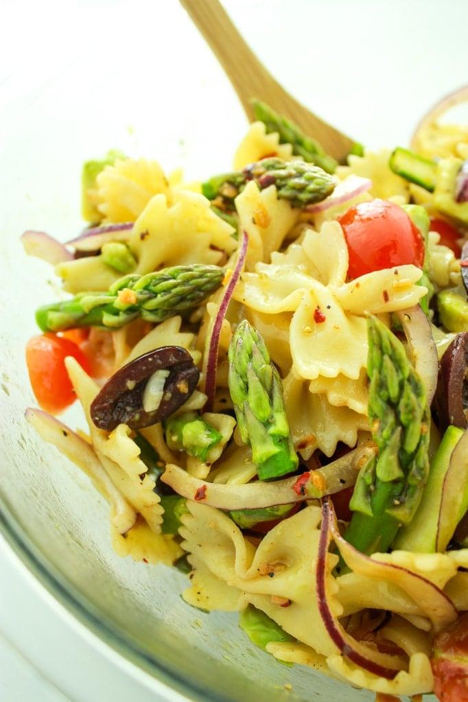 Vegan Pasta Salad Close up