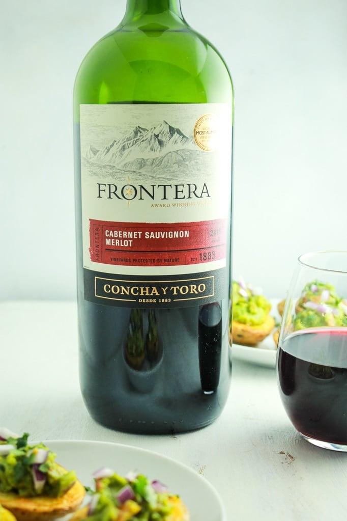 Merlot Wine Bottle