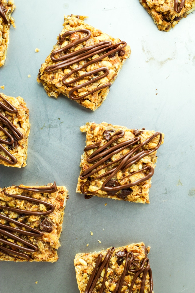 7 Salted Chocolate Granola Bars