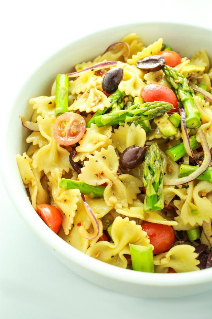 Vegan Pasta Salad in Bowl