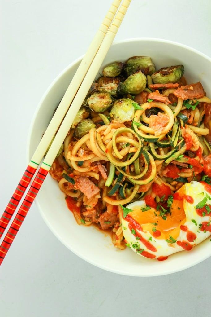 Kimchi Zucchini Noodles