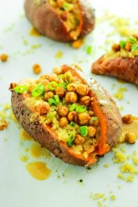 Miso Quinoa Stuffed Sweet Potatoes – Meal prep favorite! These are so easy to make and reheat. LOVE the miso dressing!