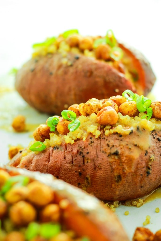3 Miso Quinoa Stuffed Sweet Potatoes