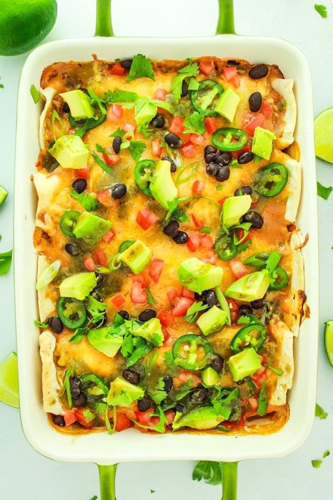 Green Chile Sweet Potato Enchiladas