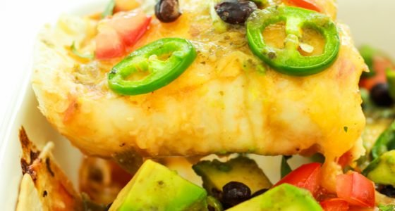 Green Chile Sweet Potato Enchiladas