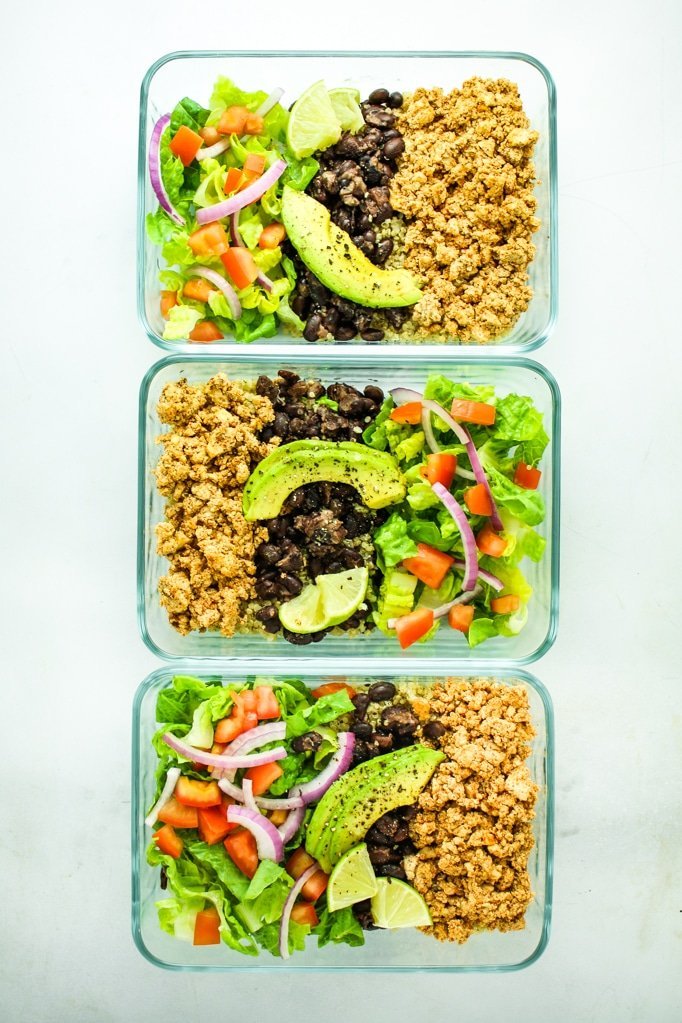 Tofu burrito bowl meal prep from the fitchen tofu burrito bowl meal prep easy and fast meal prep recipe using tofu this forumfinder Image collections