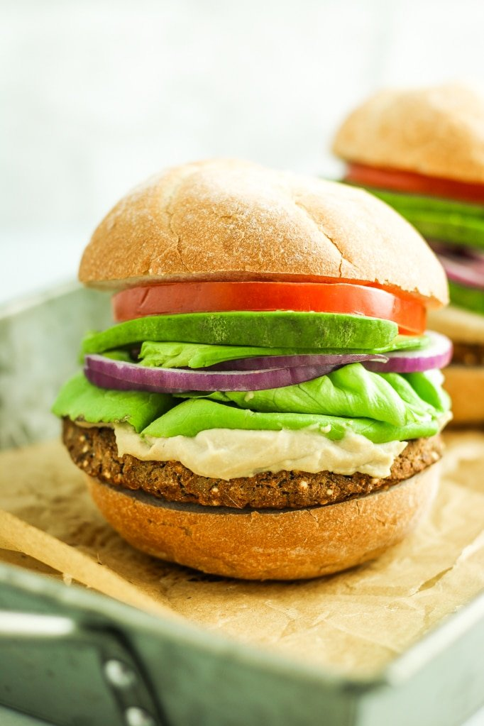 Eggplant Veggie Burgers – FINALLY found my favorite vegan burger recipe. So flavorful, easy, and healthy. Freezer friendly too.