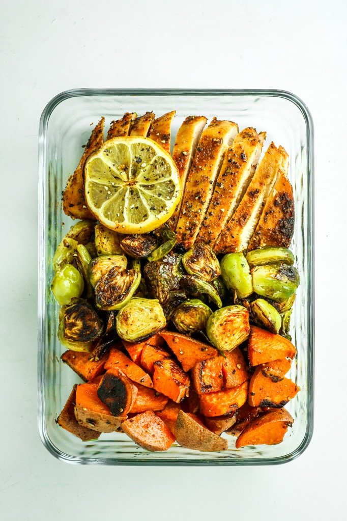 Blackened Chicken Sheet Pan Dinner with Sweet Potatoes