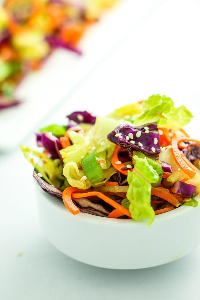 Rainbow Thai Salad in Bowl