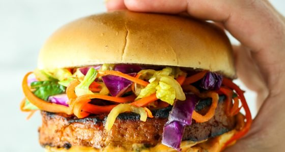 Sweet and Spicy Tofu Burgers