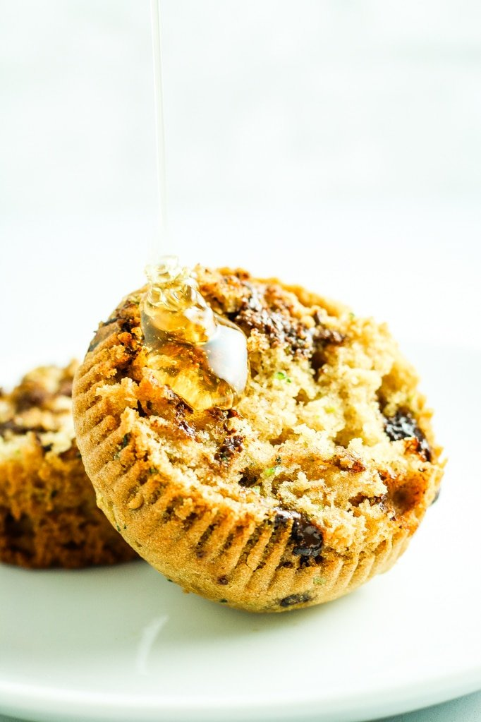 2 Chocolate Chip Zucchini Muffins
