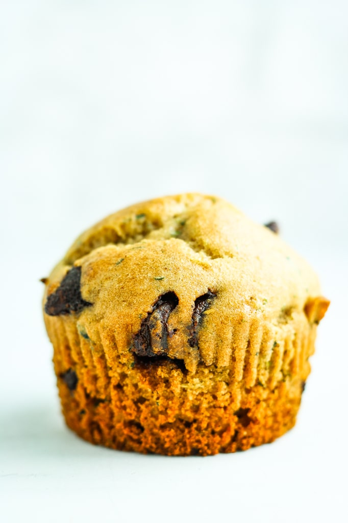 Chocolate Chip Zucchini Muffins - Hands down the BEST zucchini muffin or zucchini bread recipe EVER. These are moist, fluffy, and just sweet enough.