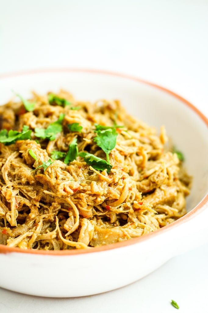 Crockpot Thai Chicken Tacos