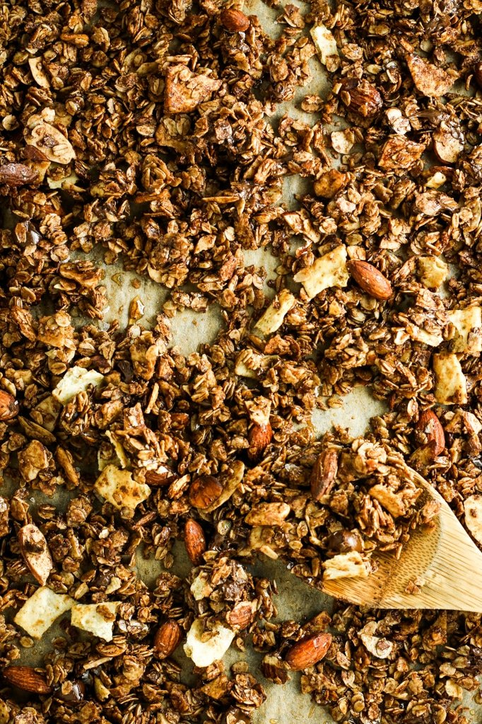 Sweet and Salty Granola - This stuff is the BOMB. Addicting! So easy to make in a big batch and it stays good for a couple of weeks!