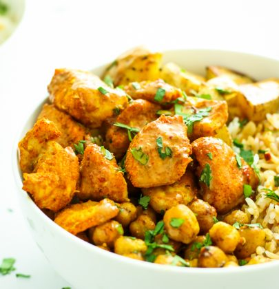 Tandoori Chicken Bowls with Peanut Sauce