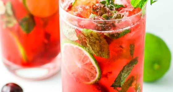 Black Cherry Mojitos