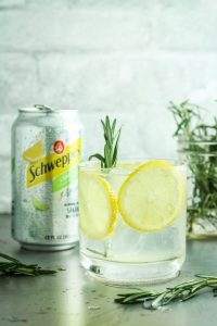 Lemon Lime Gin Spritzers - New go-to easy cocktail. These are so refreshing and bubbly. And EASY! Everyone loves them.
