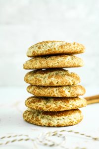 One Bowl Gluten Free Snickerdoodles - My favorite snickerdoodle recipe. Crispy on the outside and chewy on the inside!