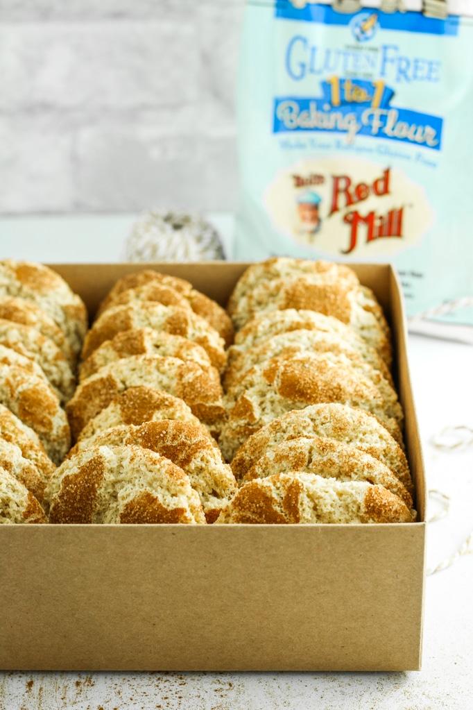 One Bowl Gluten Free Snickerdoodles in box