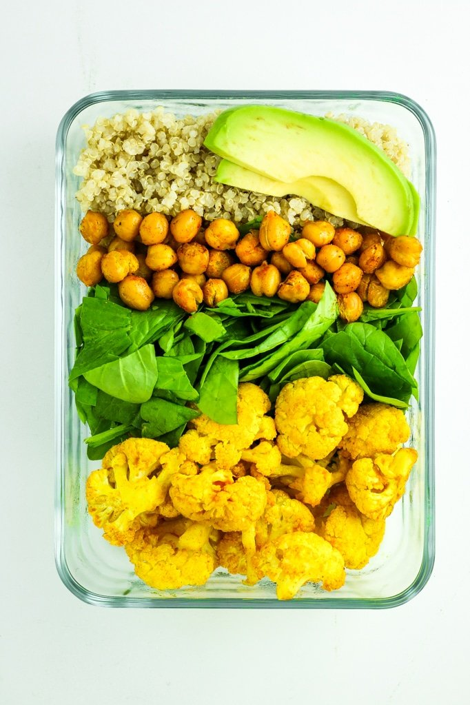 Vegan Meal Prep Recipe Roundup - This vegan meal prep roundup has it all! From burrito bowls and lettuce wraps to breakfast burritos and jar salads. A few side dish ideas are included at the bottom – they're perfect for adding to your favorite grain + protein combo!