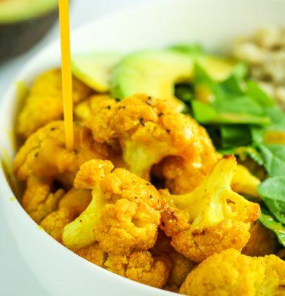 Turmeric Cauliflower Quinoa Bowls
