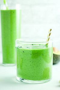 Avocado Spinach Green Smoothie - This is my go-to green smoothie for winter. It's creamy, filling, and just sweet enough!