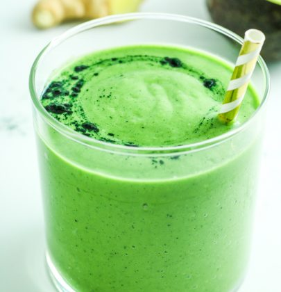 Avocado Spinach Green Smoothie