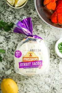 Lobster Roll Tacos – These disappear so quick, especially on game day! Lobster roll filling works perfect on flour tortillas. Great for New England Patriots themed food!