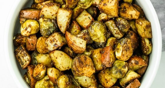 Honey Balsamic Brussels Sprouts and Potatoes