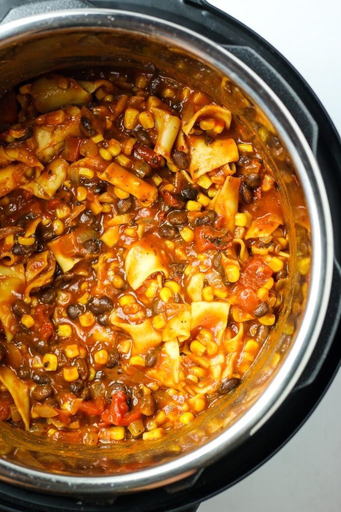 Vegan Chili  in pan