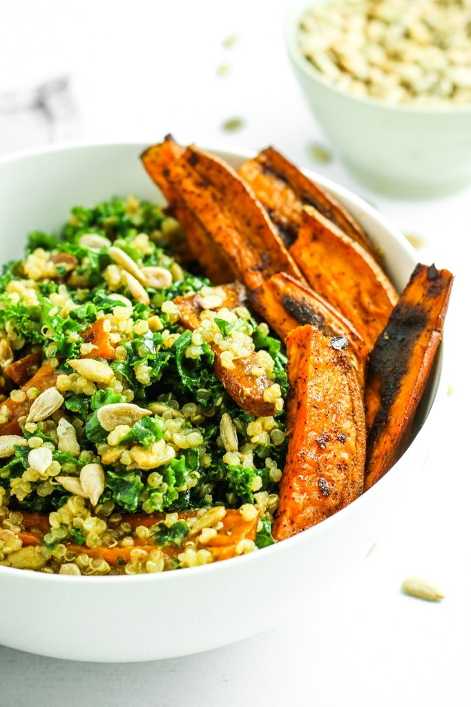 Sweet Potato Quinoa Kale Salad