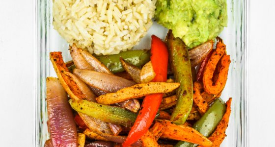 Sweet Potato Fajitas Meal Prep