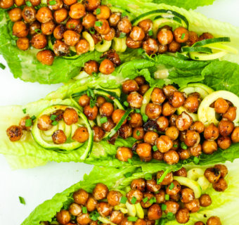 Sweet and Spicy Chickpea Lettuce Wraps